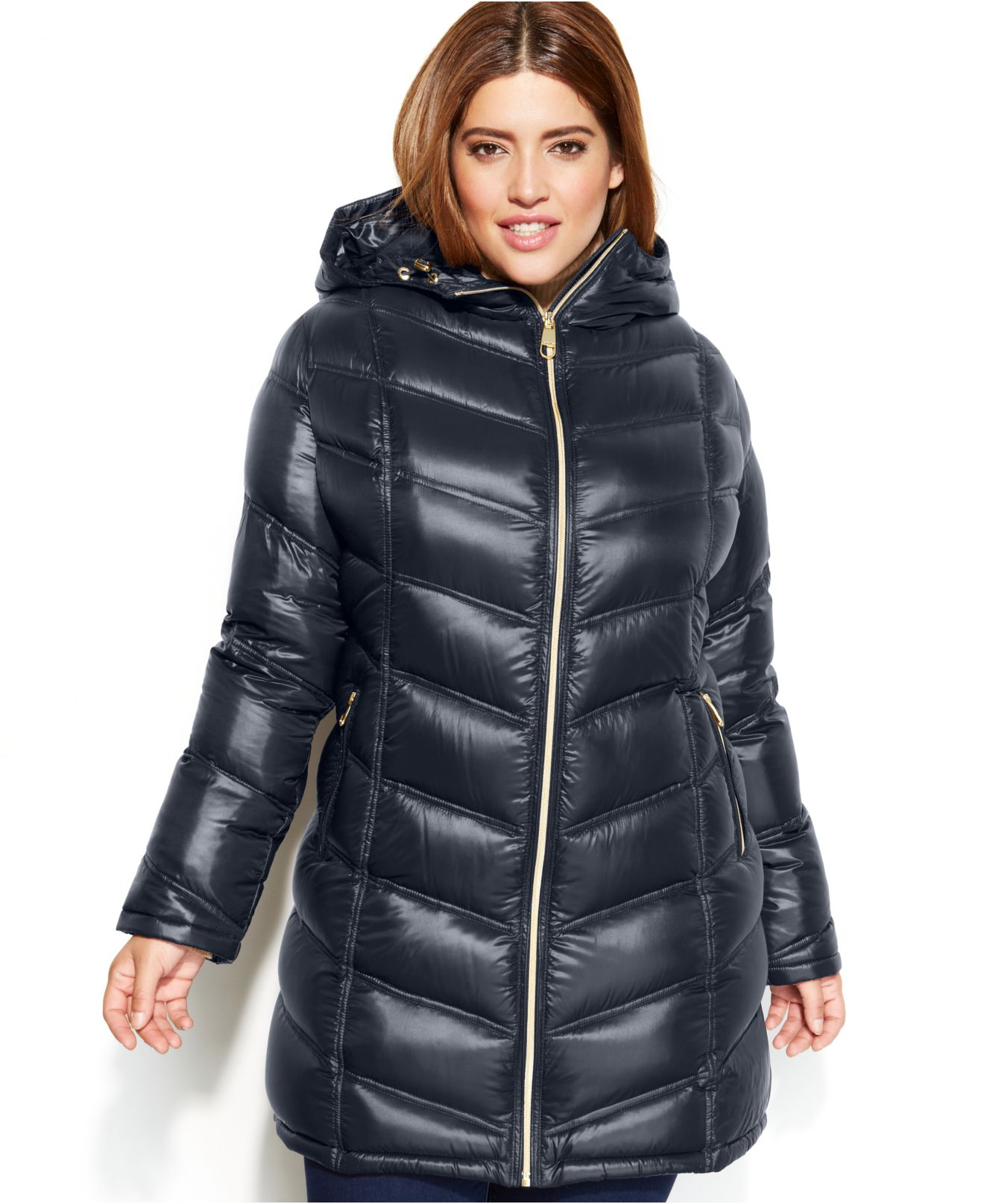 Calvin Klein Plus Size Quilted Down Packable Puffer Coat