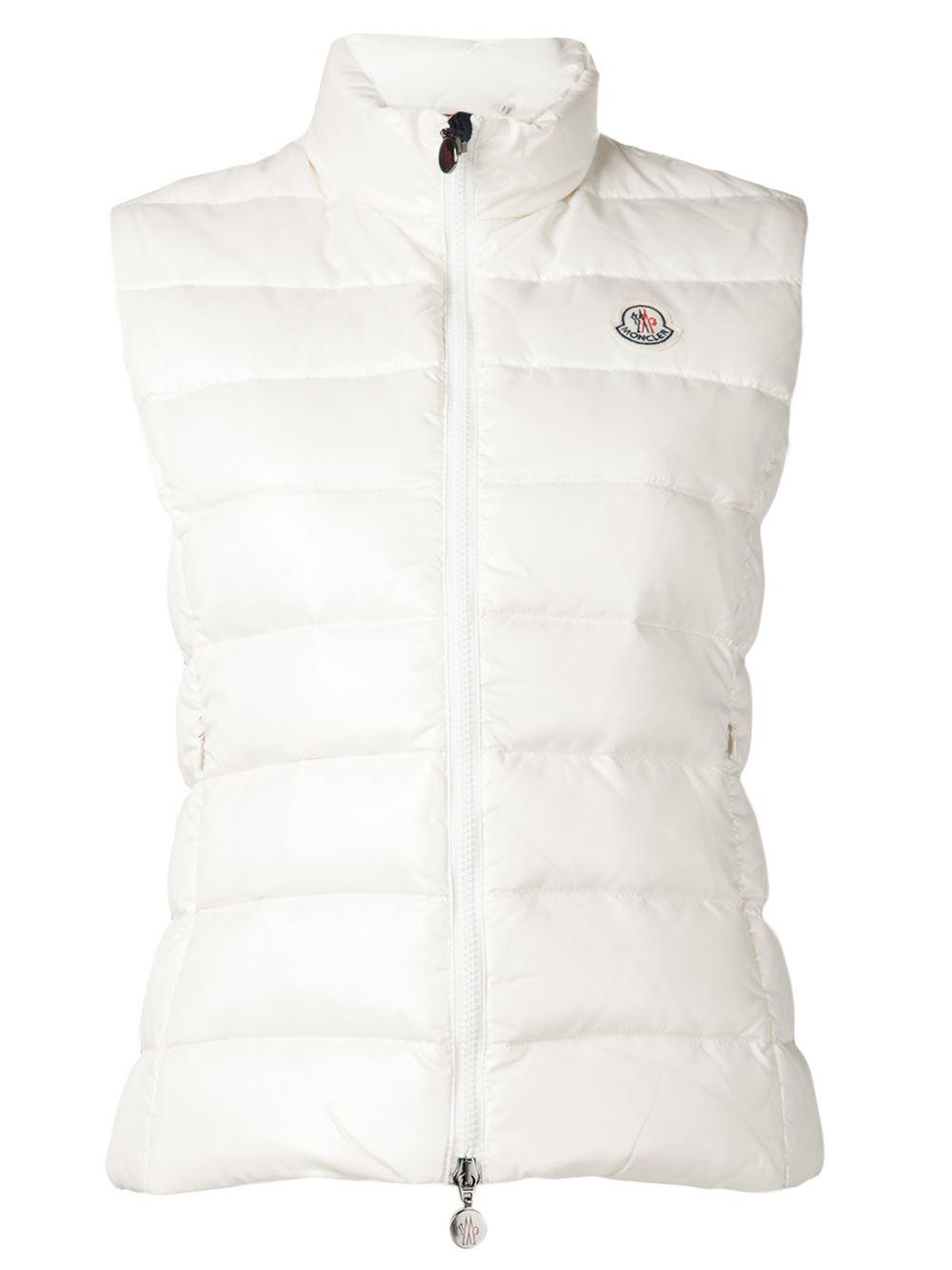 moncler ghany vest in white lyst rh lyst co uk