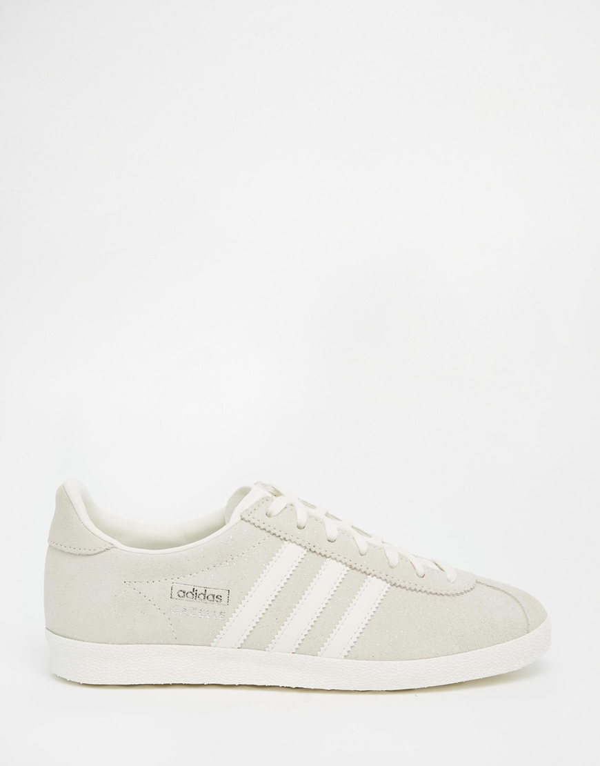 Lyst - adidas Originals Originals Off White Suede Gazelle Og ... eda875ee7