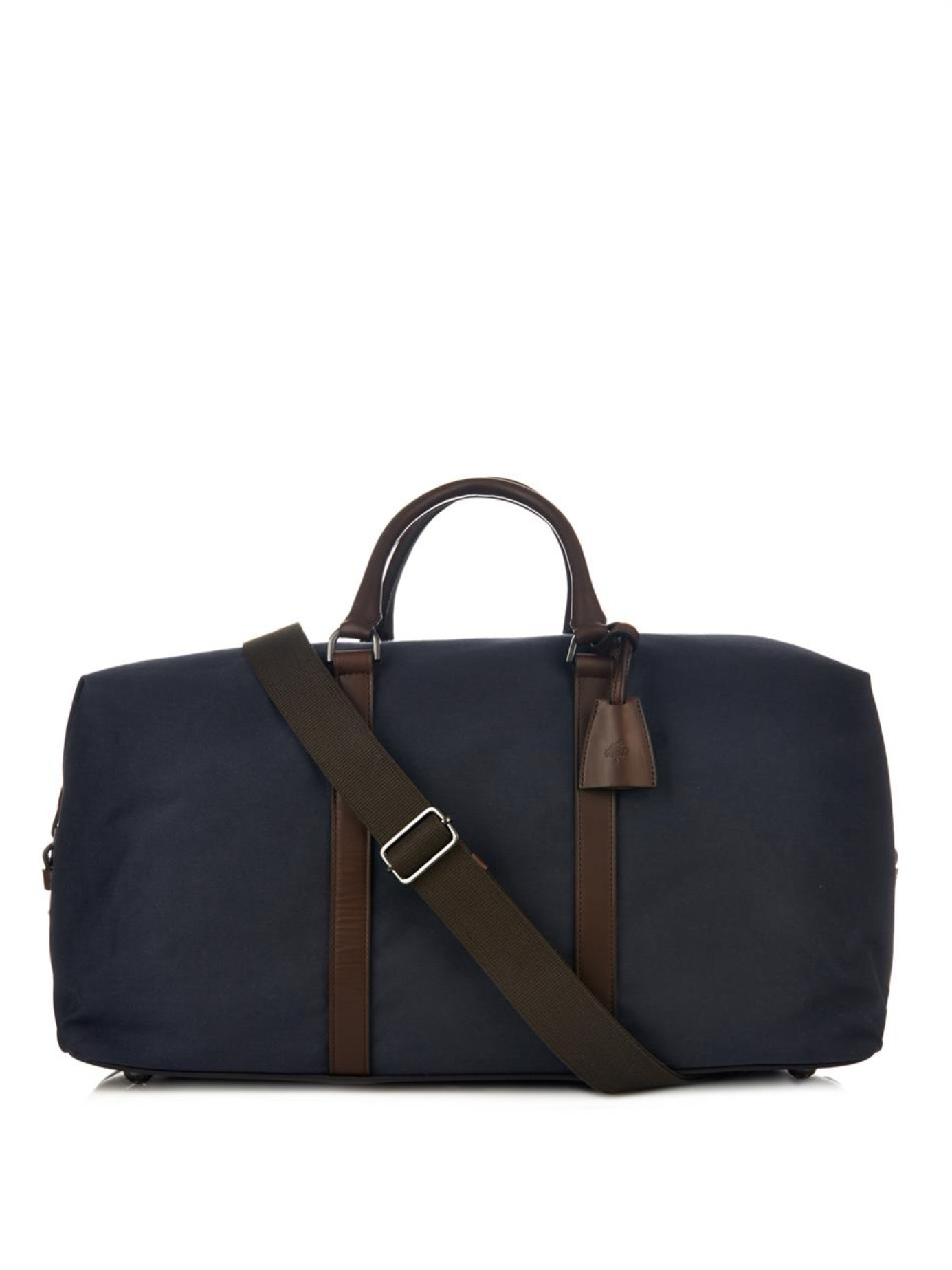 583c0a0d18 Lyst - Mulberry Clipper Refined-Canvas Weekend Bag in Blue for Men