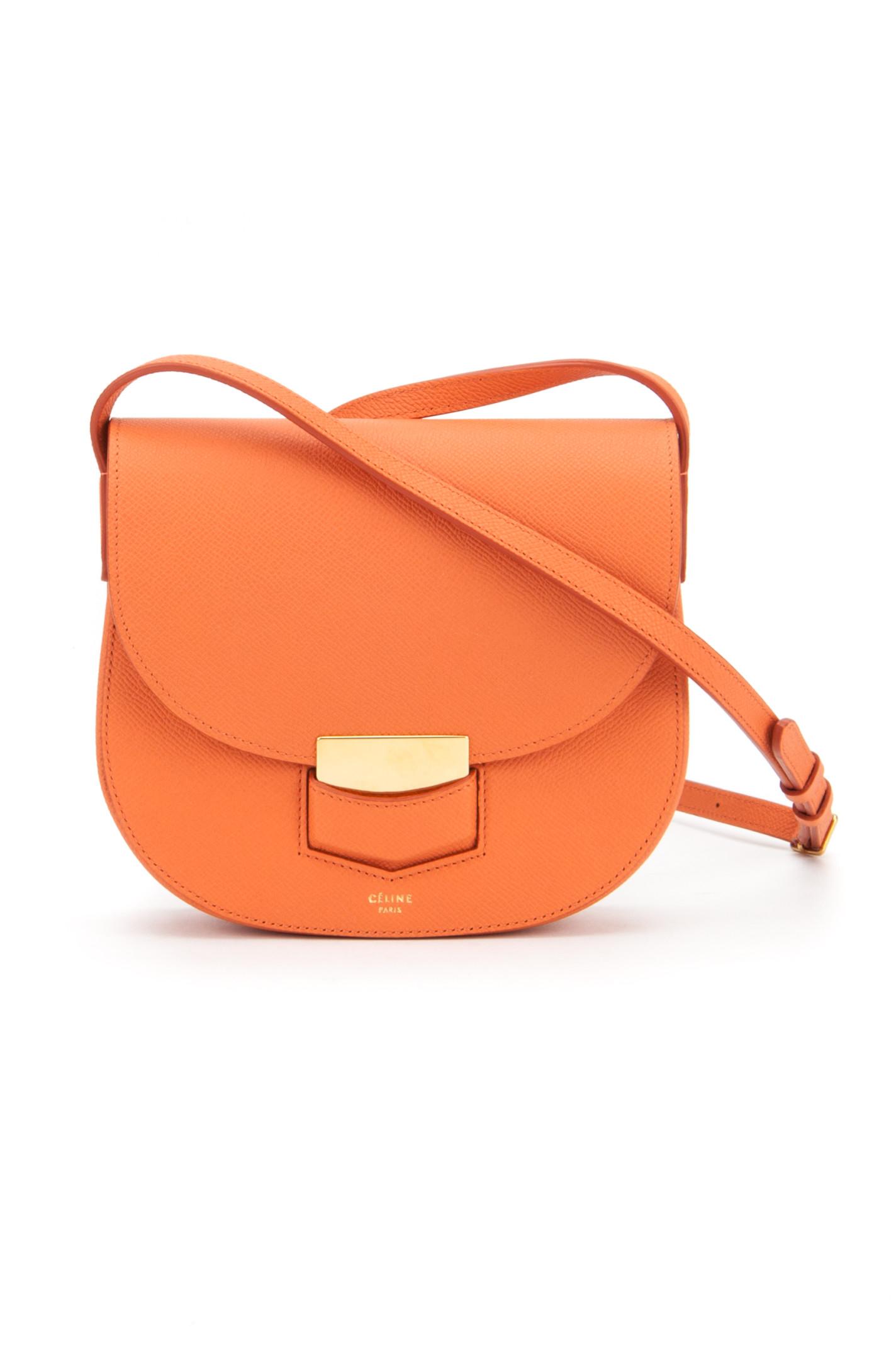 celine nano bag for sale - celine orange clutch bag