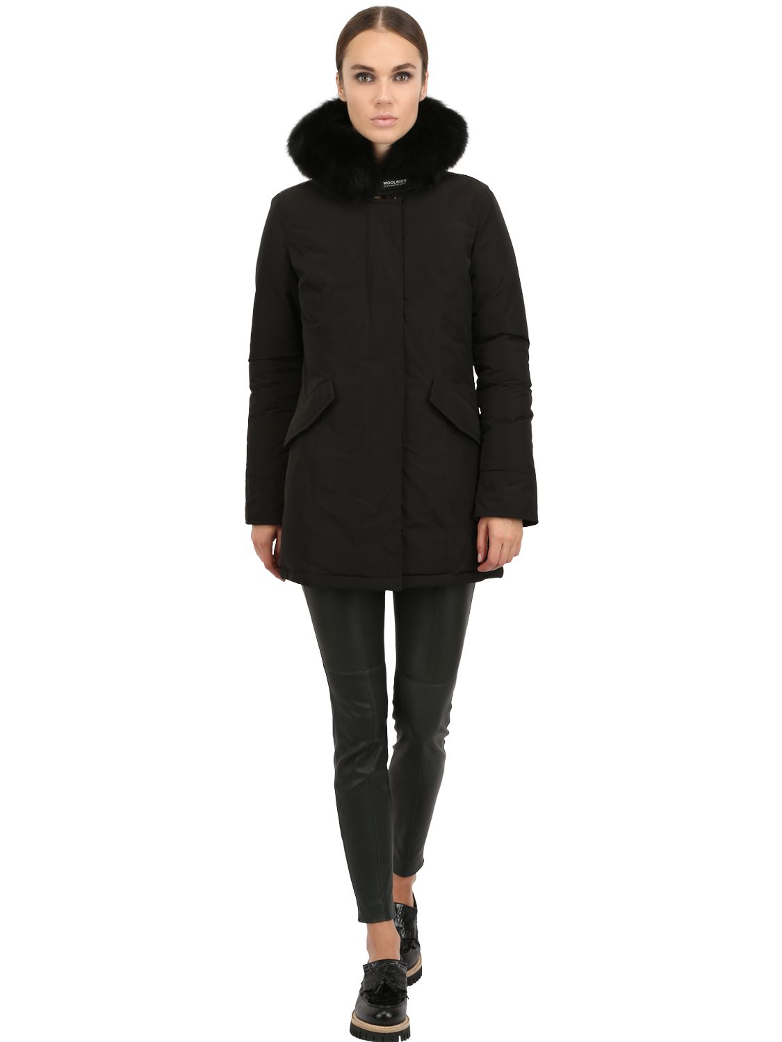 woolrich shape memory luxury arctic parka in black lyst. Black Bedroom Furniture Sets. Home Design Ideas
