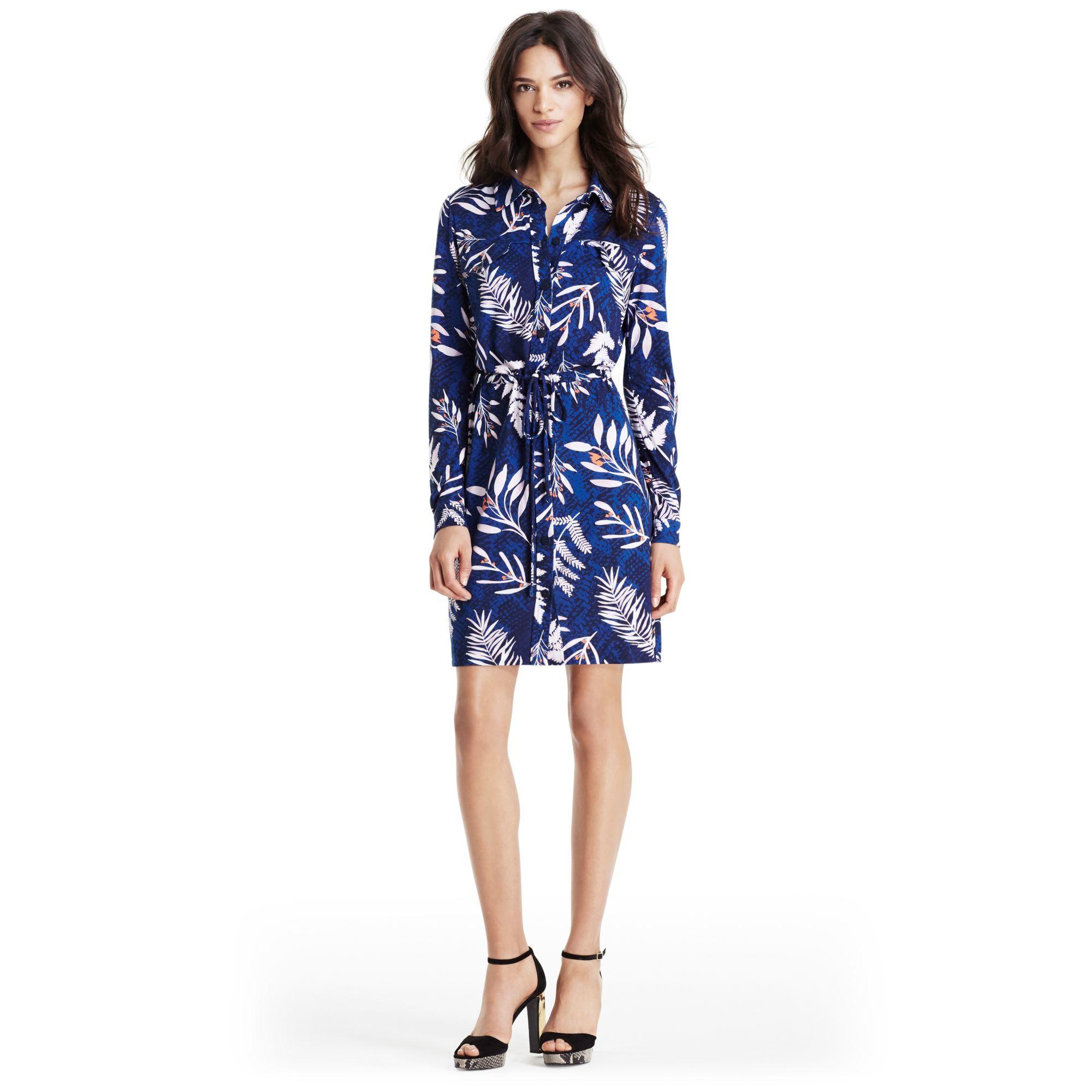 Lyst diane von furstenberg dvf jones silk jersey shirt for Diane von furstenberg shirt