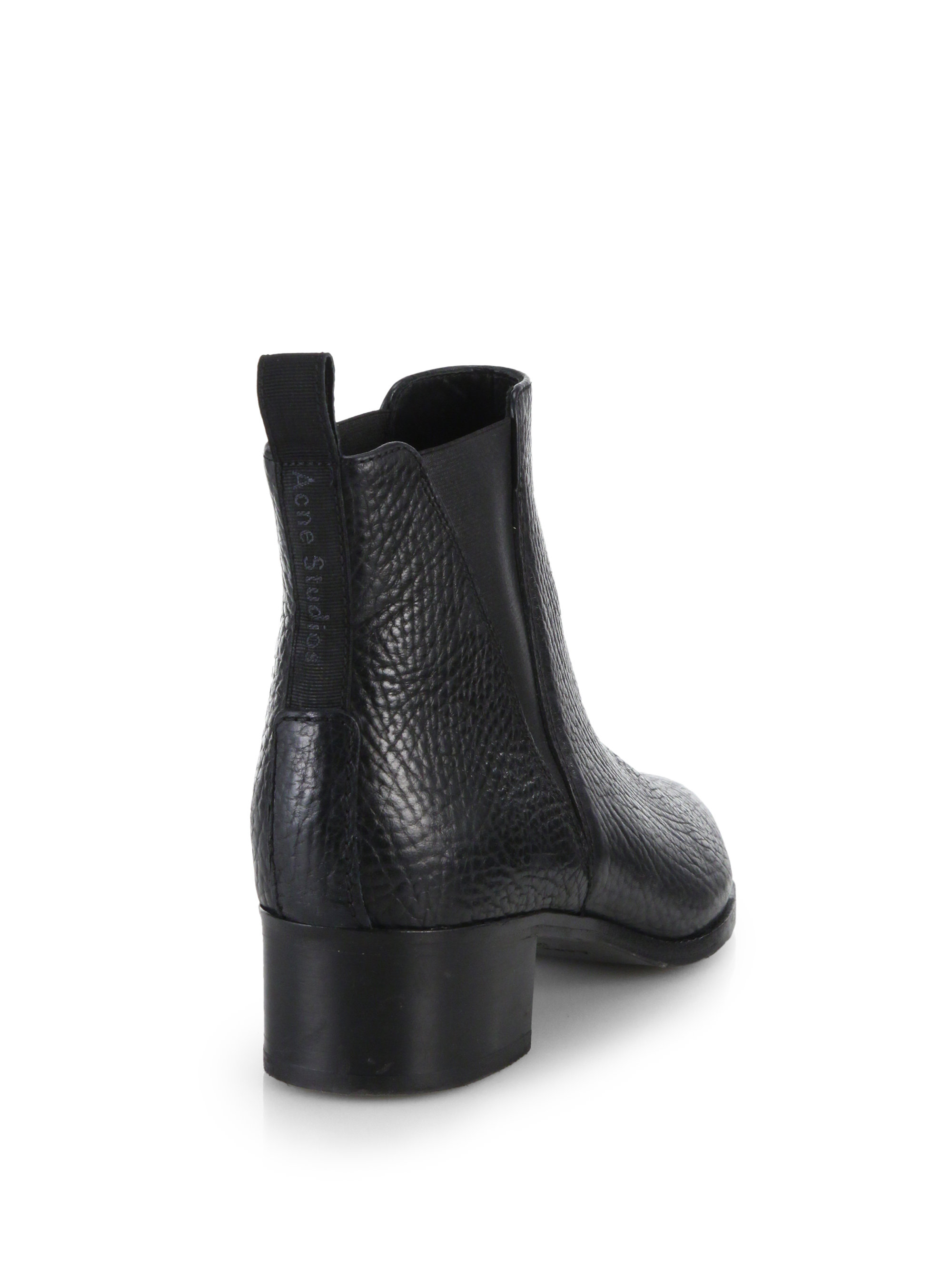 e08047eb589 Lyst - Acne Studios Jensen Pebbled Leather Ankle Boots in Black for Men