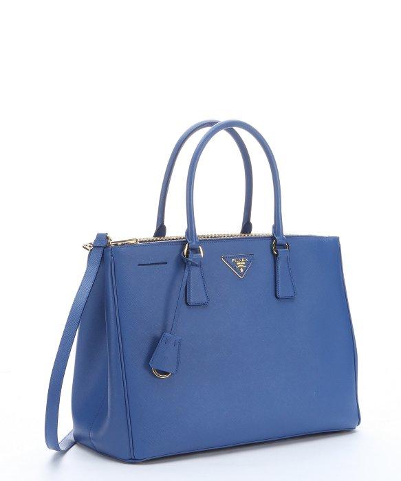 Prada Cobalt Blue Saffiano Leather Top Handle Bag in Blue (cobalt ...