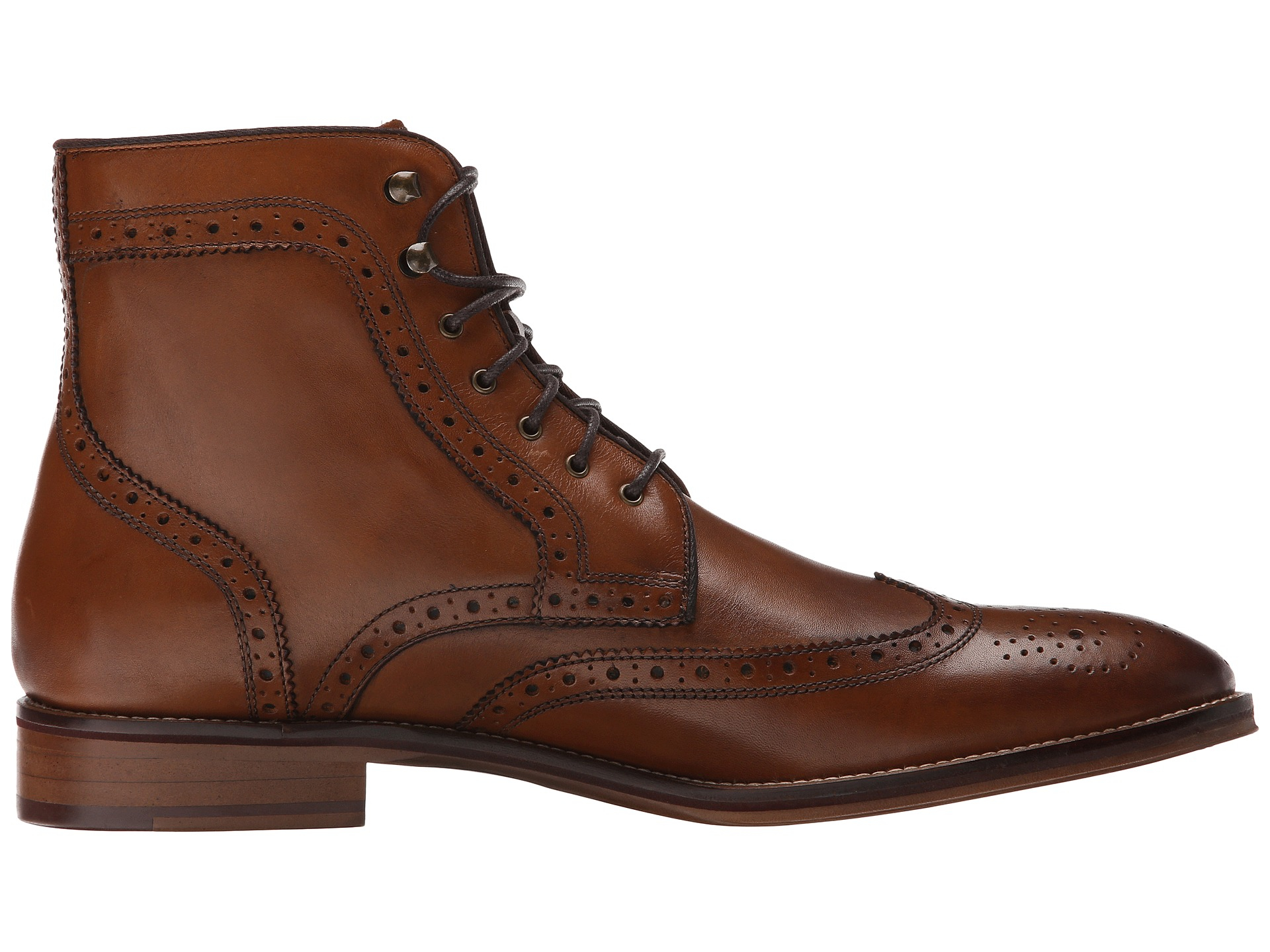 Johnston Amp Murphy Conard Wingtip Boot In Brown For Men Lyst