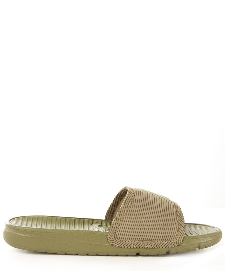 940741756fbc Nike Olive Benassi Solarsoft Sp Slides in Brown - Lyst