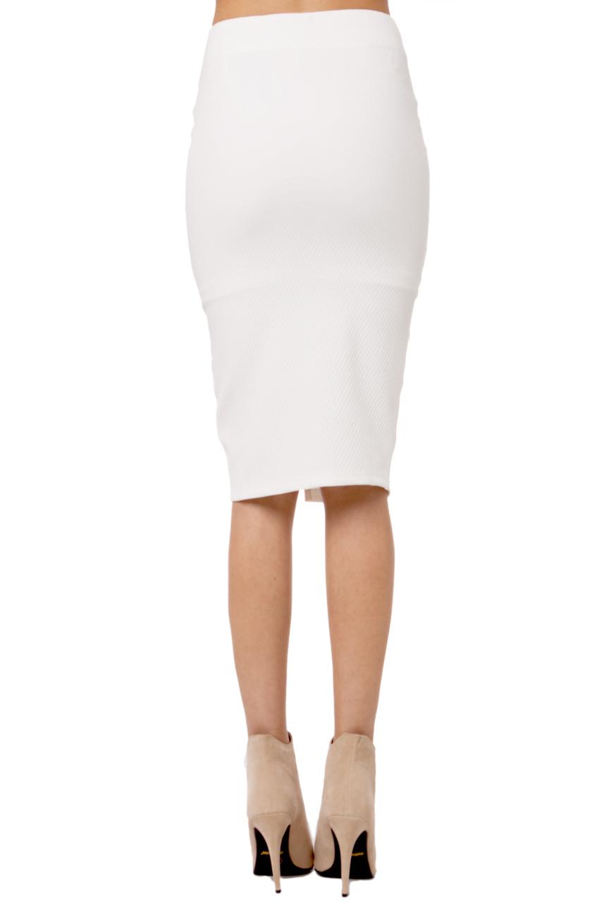 Akira Pencil Skirt W Zipper In White Lyst