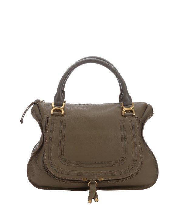 chloe taupe leather madeline satchel bag