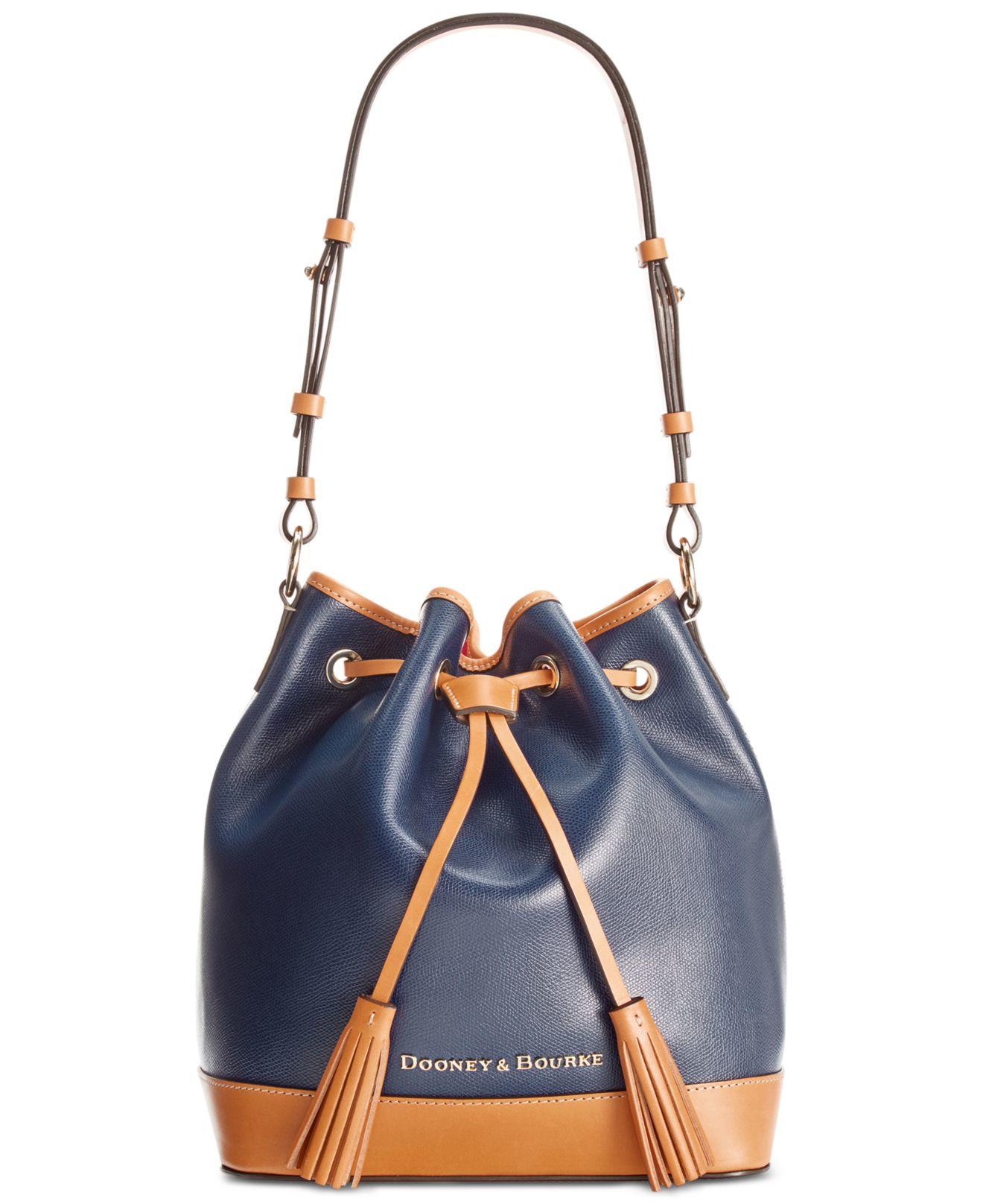 Dooney & bourke Claremont Drawstring Bag in Blue | Lyst