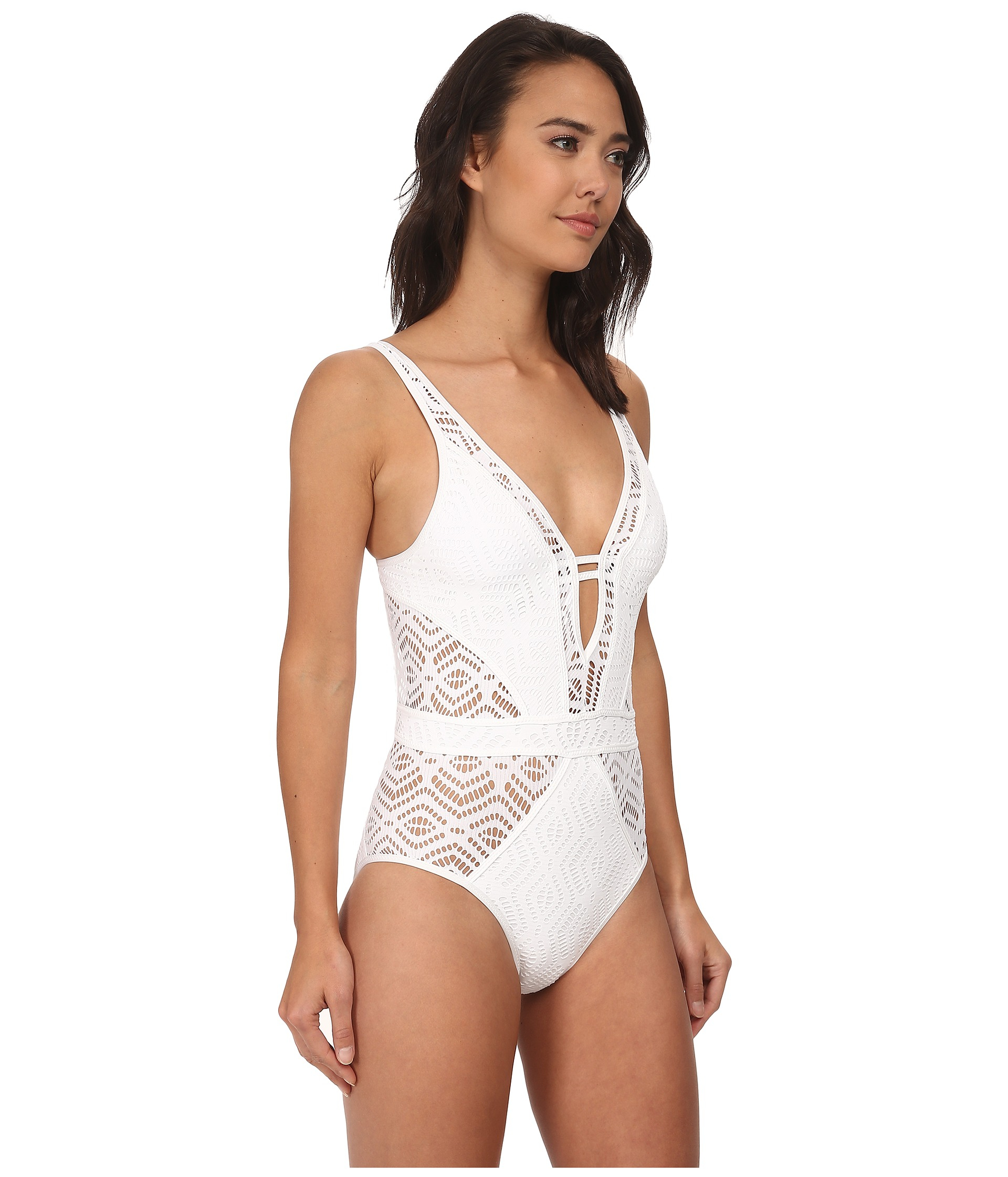 24ed285f4f Lyst - Becca Show And Tell One-piece in White