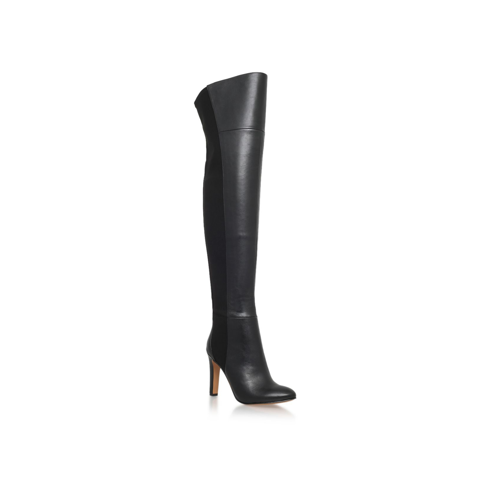nine west caldren high heel the knee boots in black