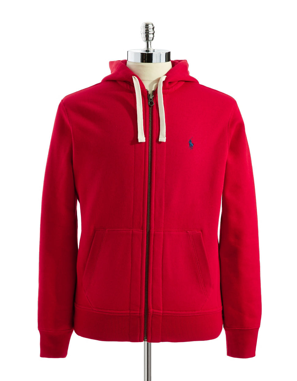 Polo Ralph Lauren | Red Full-zip Fleece Hoodie for Men | Lyst. View Fullscreen