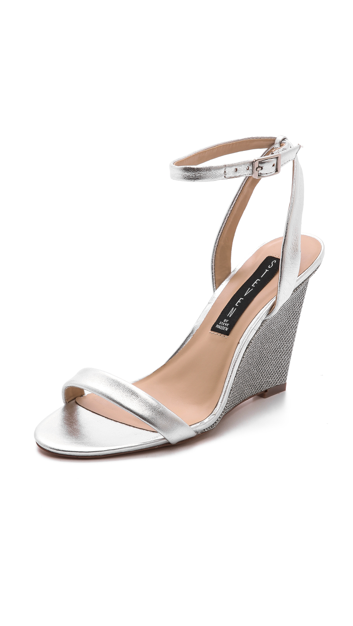 Wedges silver heels photo exclusive photo
