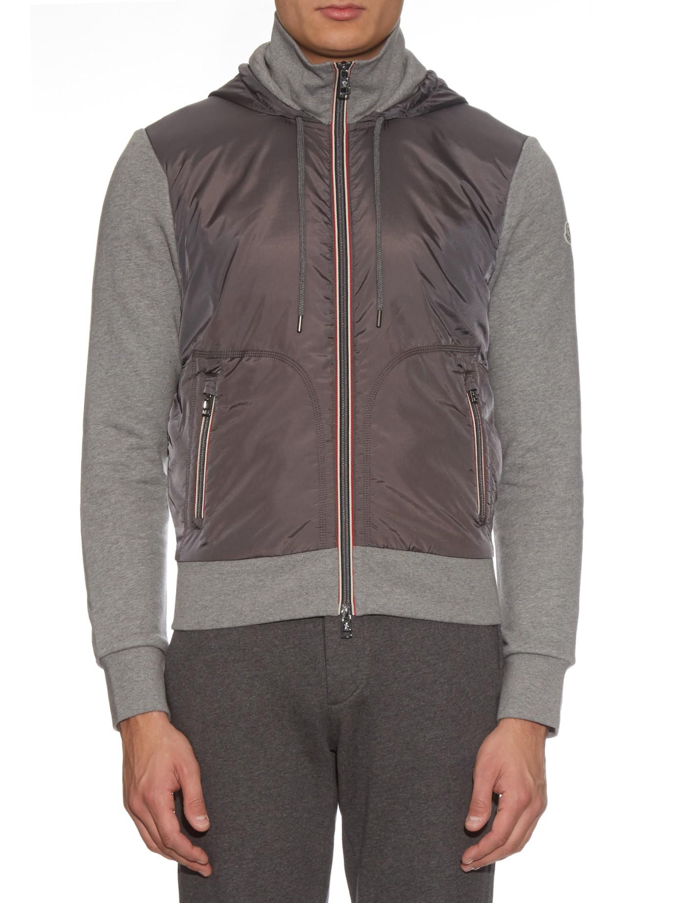 moncler grey hooded sweatshirt