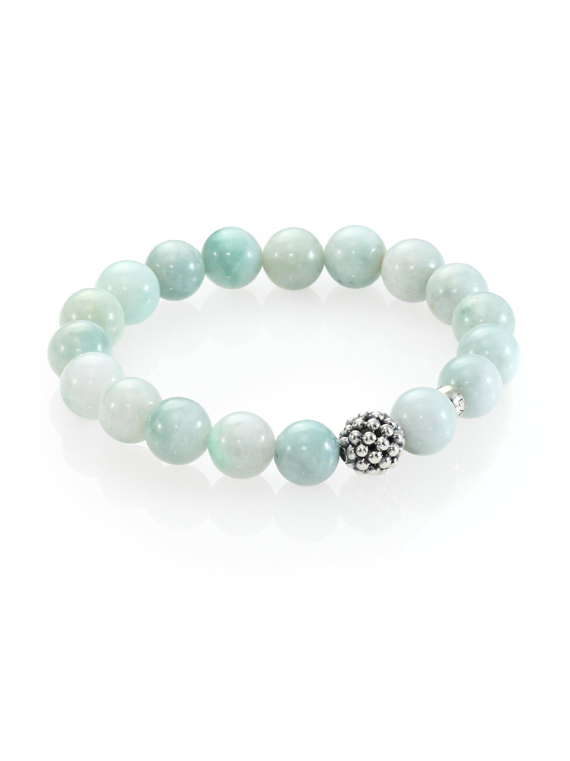 Lyst Lagos Jade Sterling Silver Bead Bracelet In Blue