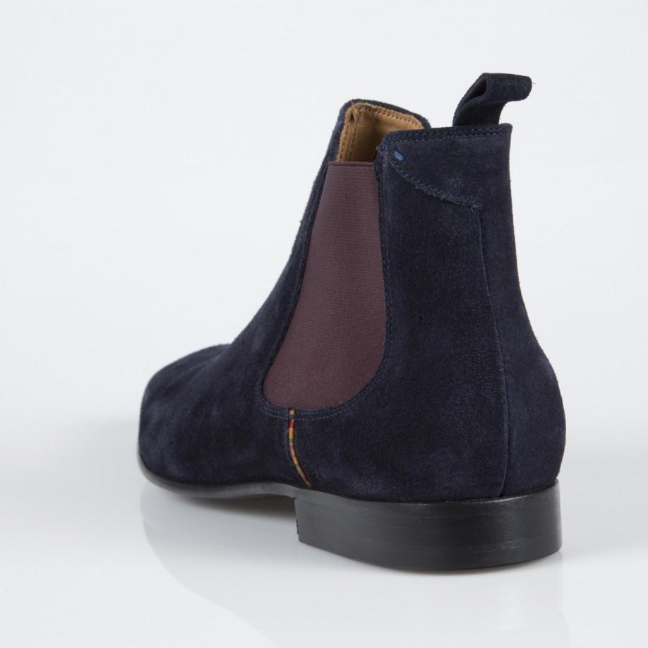 Lyst Paul Smith Navy Calf Suede Falconer Chelsea Boots