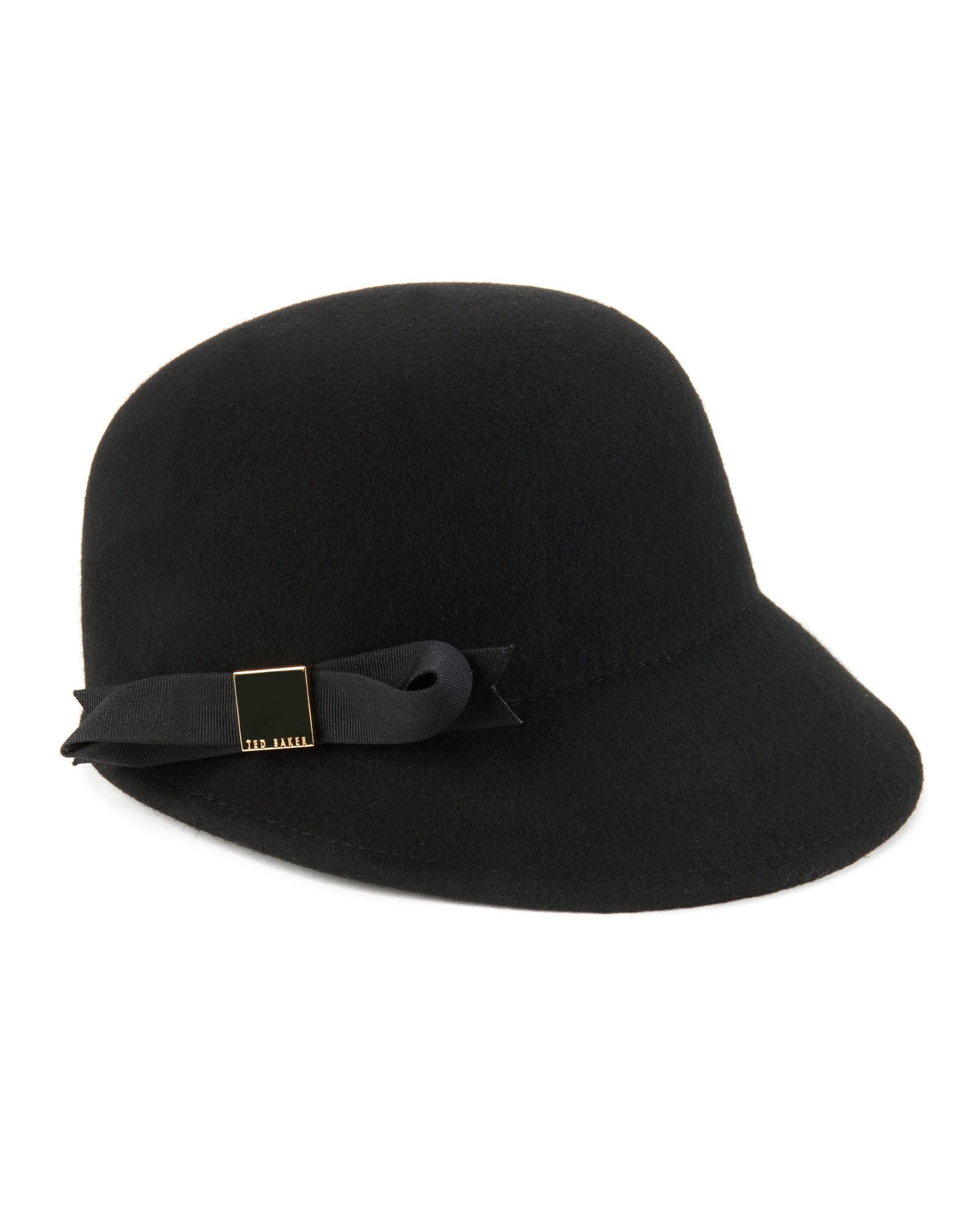 7fe916b8f53 Lyst - Ted Baker Bow Felt Cap in Black