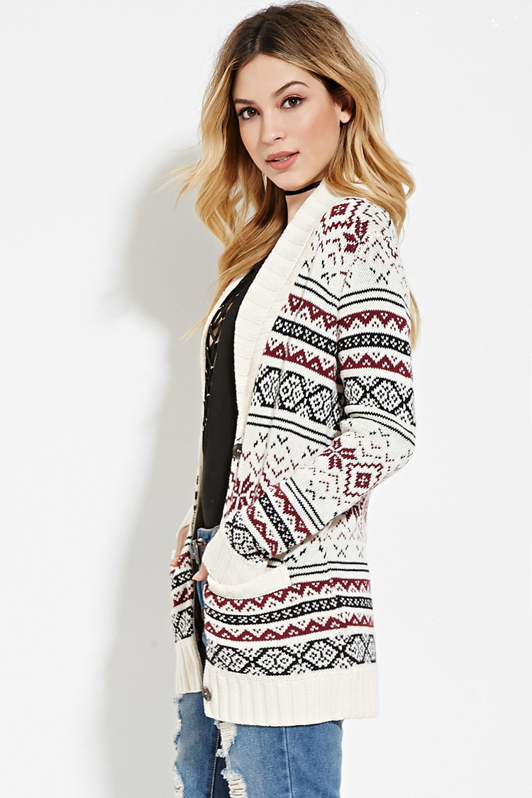 Forever 21 Fair Isle Cardigan You've Been Added To The Waitlist in ...