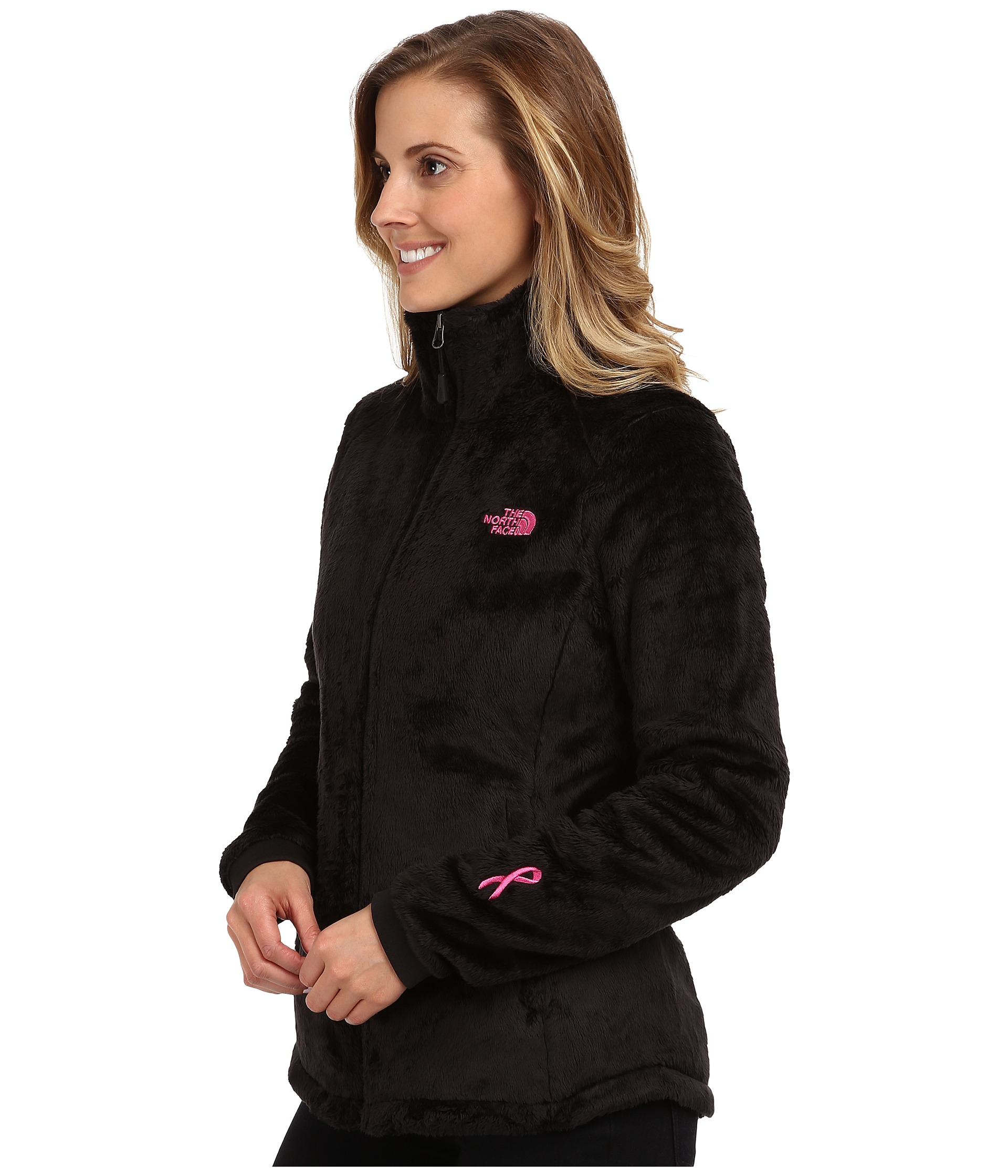 ... sweden lyst the north face pink ribbon osito 2 jacket in black e368f  9abb2 aaca10e7d