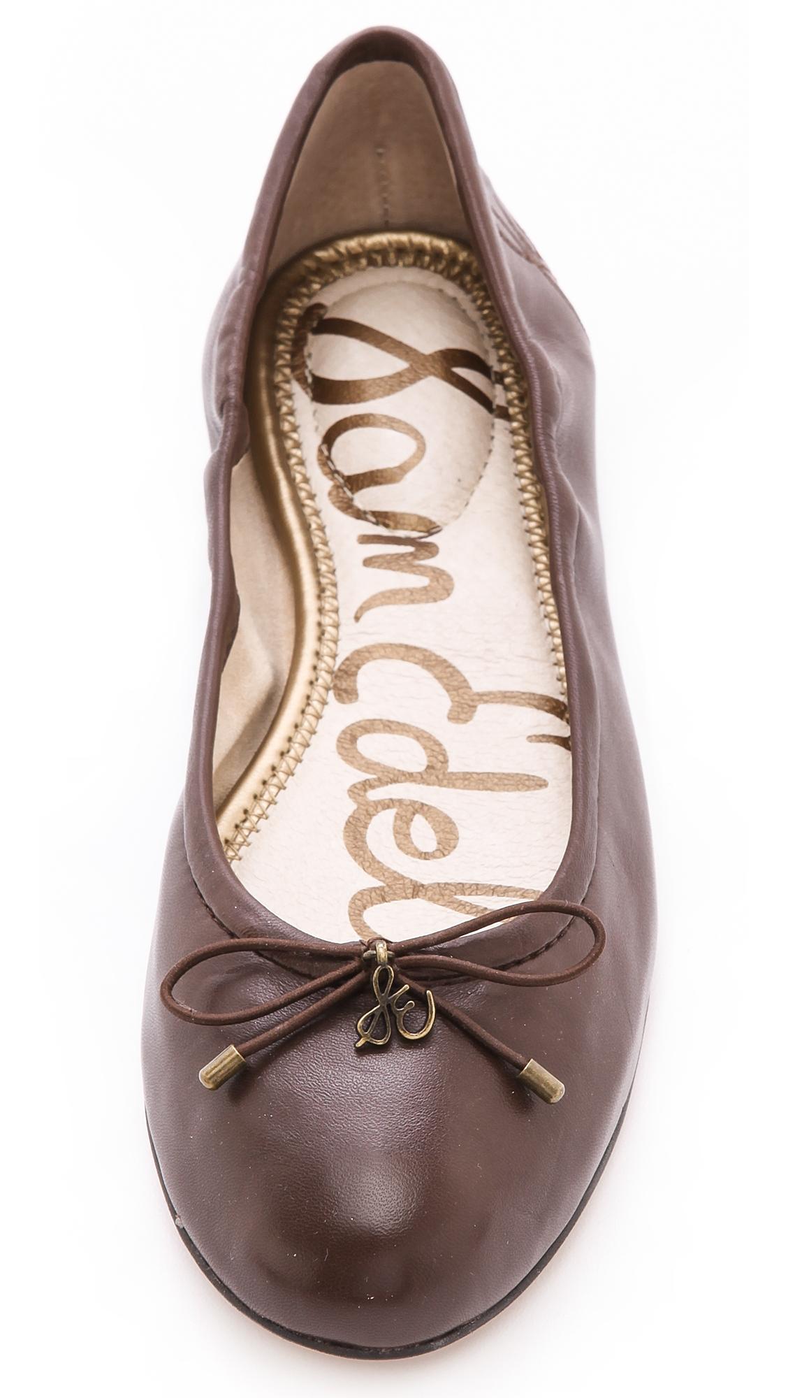 14b8a348a Lyst - Sam Edelman Felicia Ballet Flats - New Burgundy in Brown