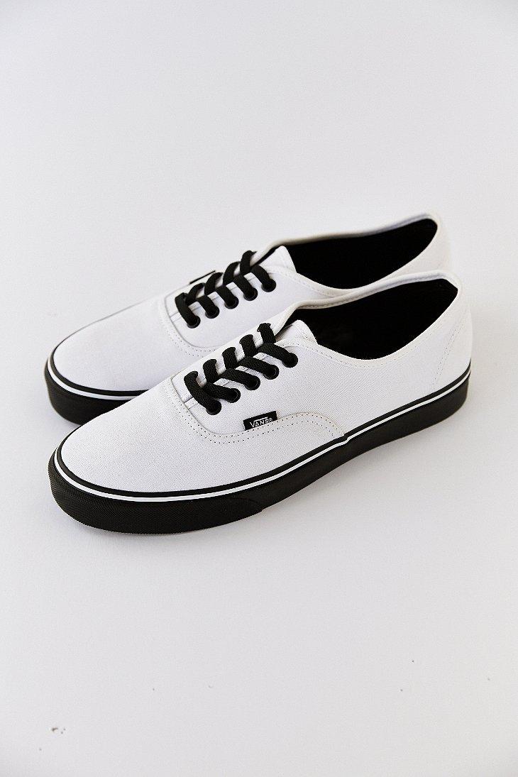 35b82dce7d0331 Lyst - Vans Authentic Black Sole Men S Sneaker in White for Men
