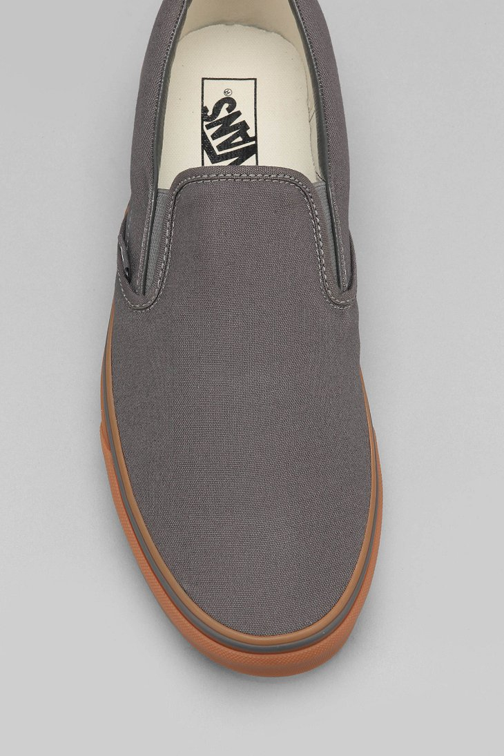 Lyst Vans Classic Gum Sole Slip On Sneaker In Gray For Men