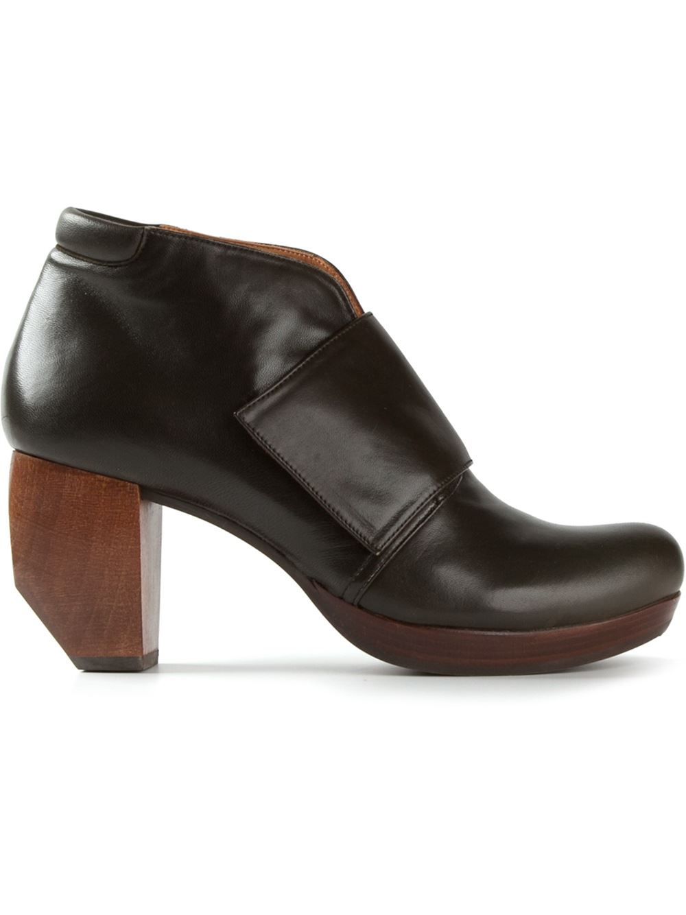 Chie mihara &39Downtown&39 Chunky Heel Boots in Green  Lyst