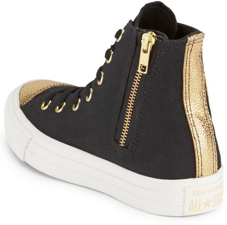 Converse Without Toe Cap Toe Cap Hitops in Black