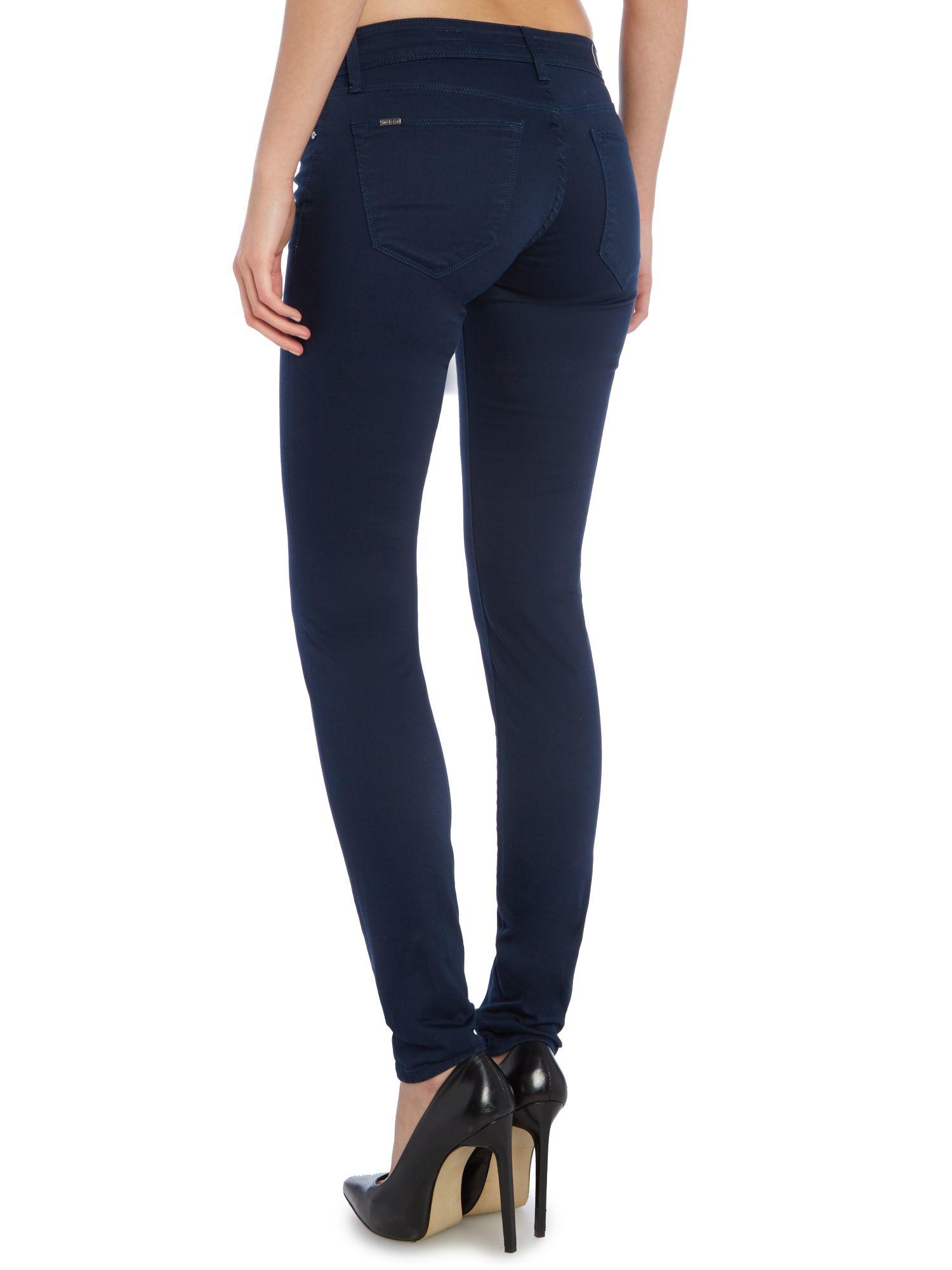 salsa colette comfort skinny jean in navy in blue lyst. Black Bedroom Furniture Sets. Home Design Ideas