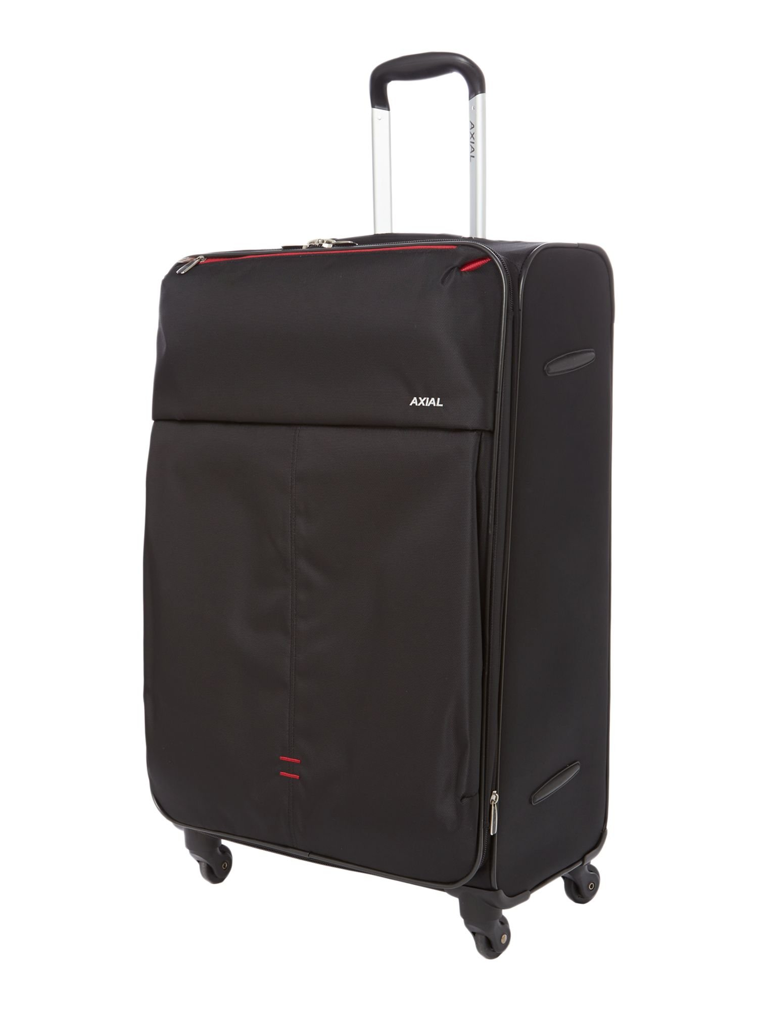 Delsey Axial Black 4 Wheels Soft Large Suitcase in Black for Men ...