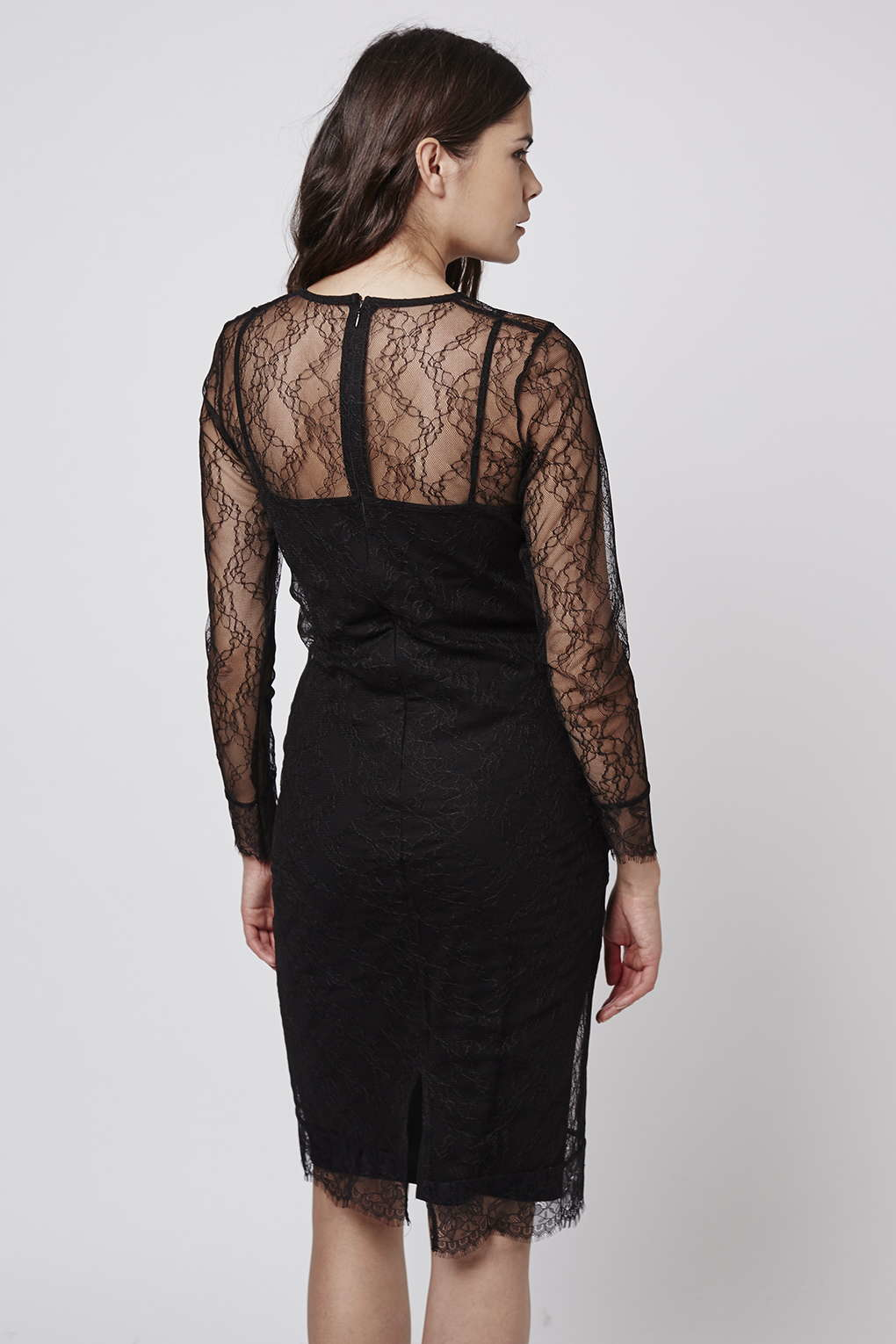 Topshop maternity lace midi dress in black lyst gallery ombrellifo Choice Image