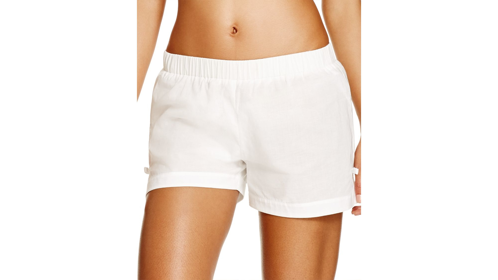 5357214c0fb9 Kate Spade Marina Piccola Swim Cover Up Shorts in Natural - Lyst