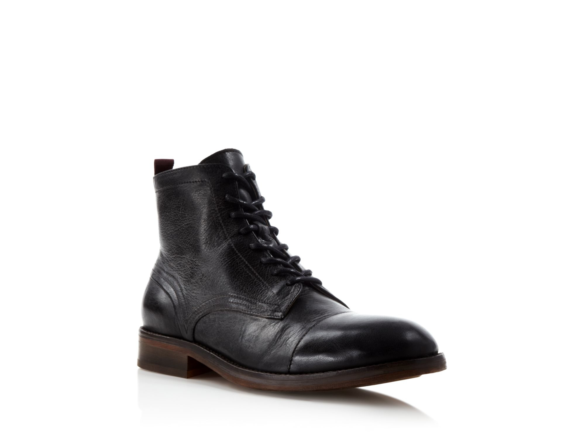 Lyst H By Hudson Palmer Cap Toe Boots In Black For Men
