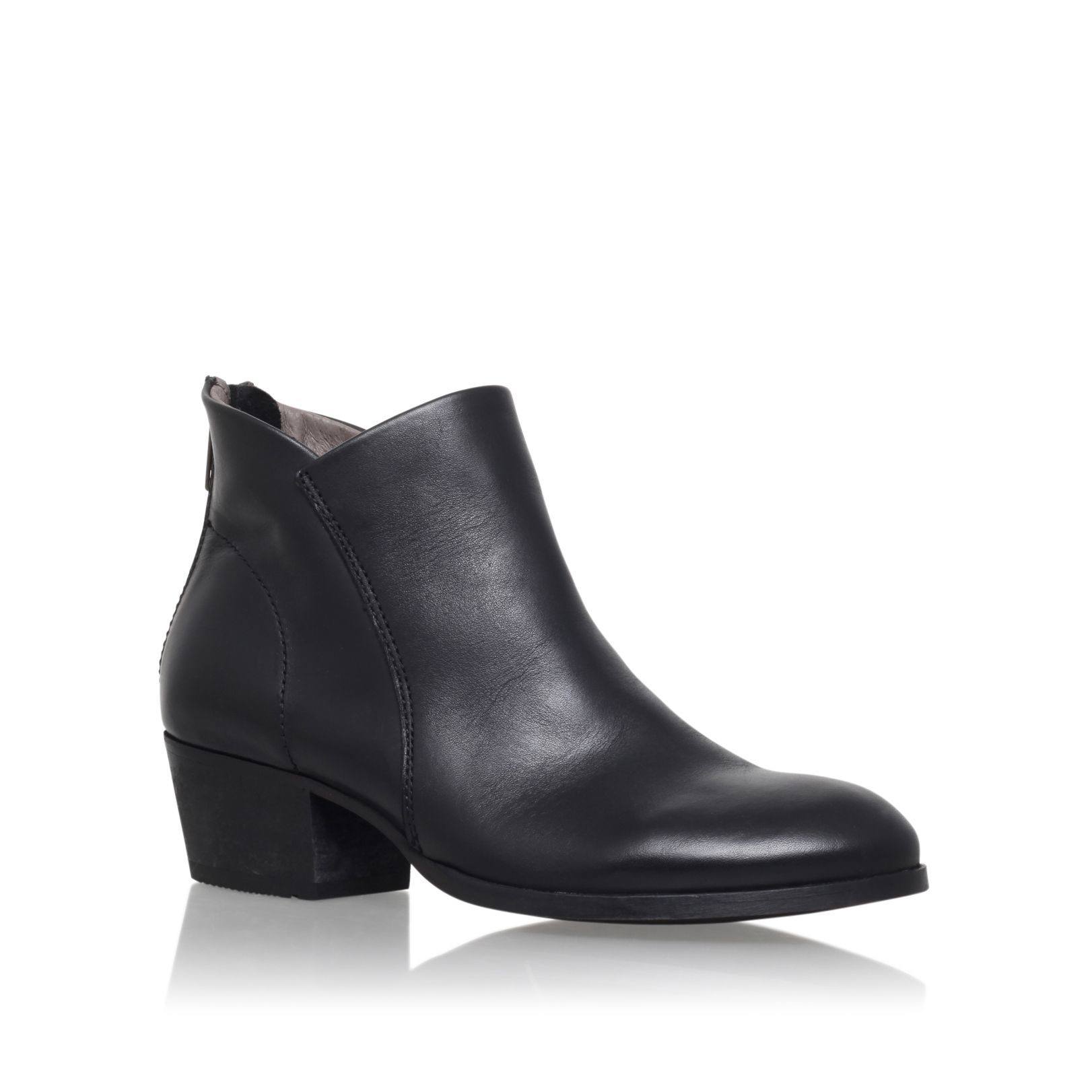 h by hudson apisi low heel ankle boots in black lyst