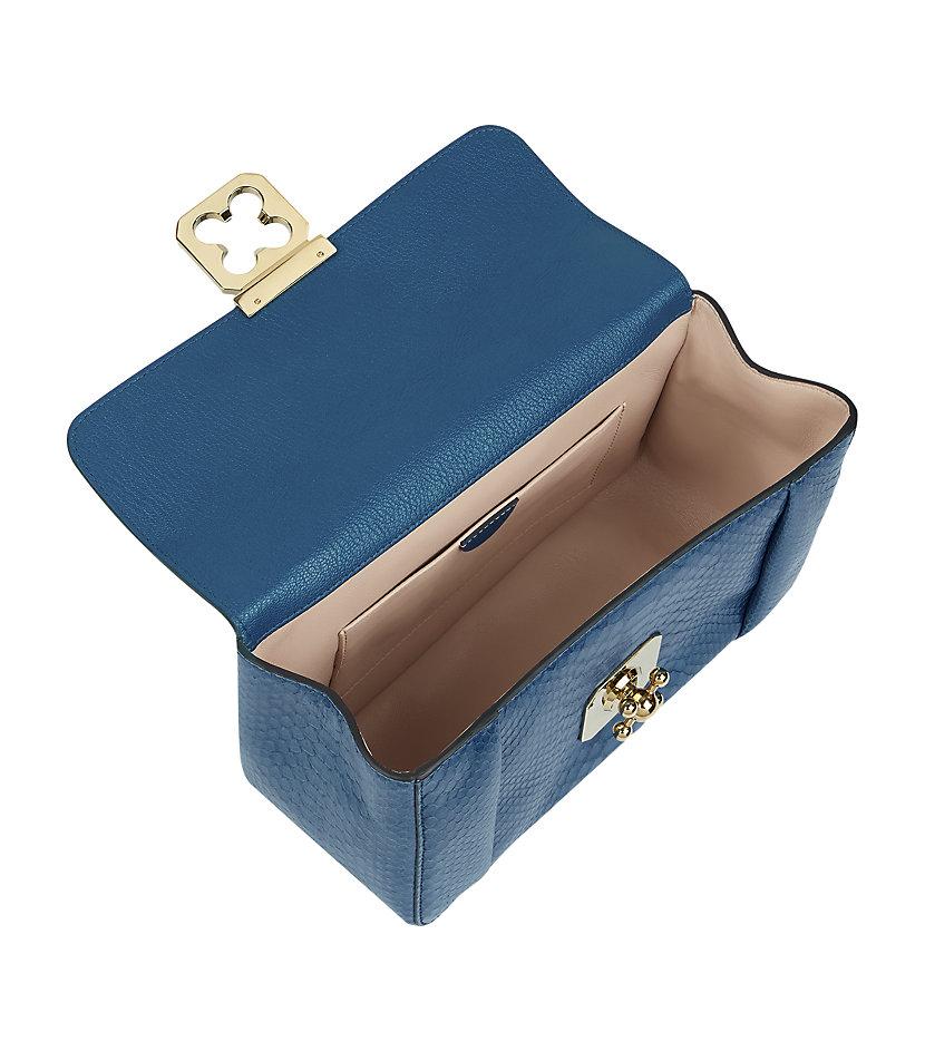 chloe \u0026quot;bay bag\u0026quot; purple leather tote bag