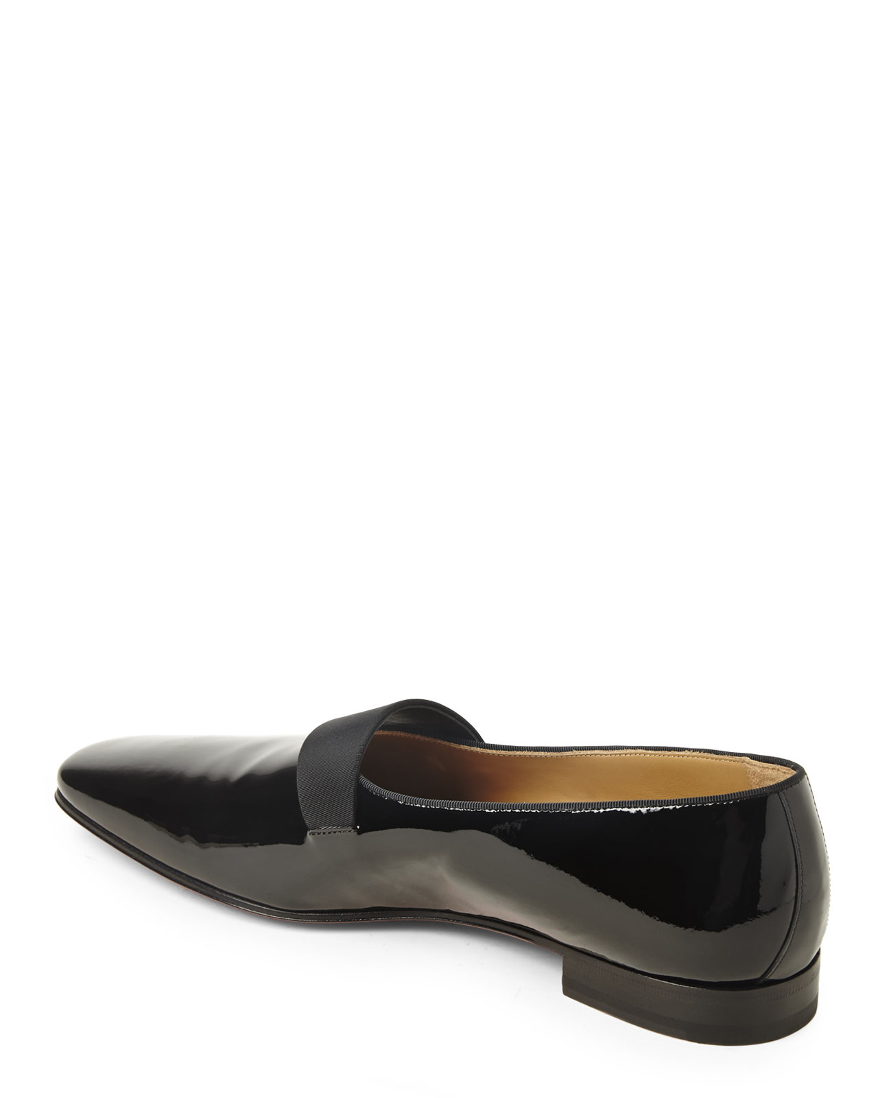 8c66365dc15 ... coupon lyst christian louboutin black patent smoker flats in black for  men 64192 b2511