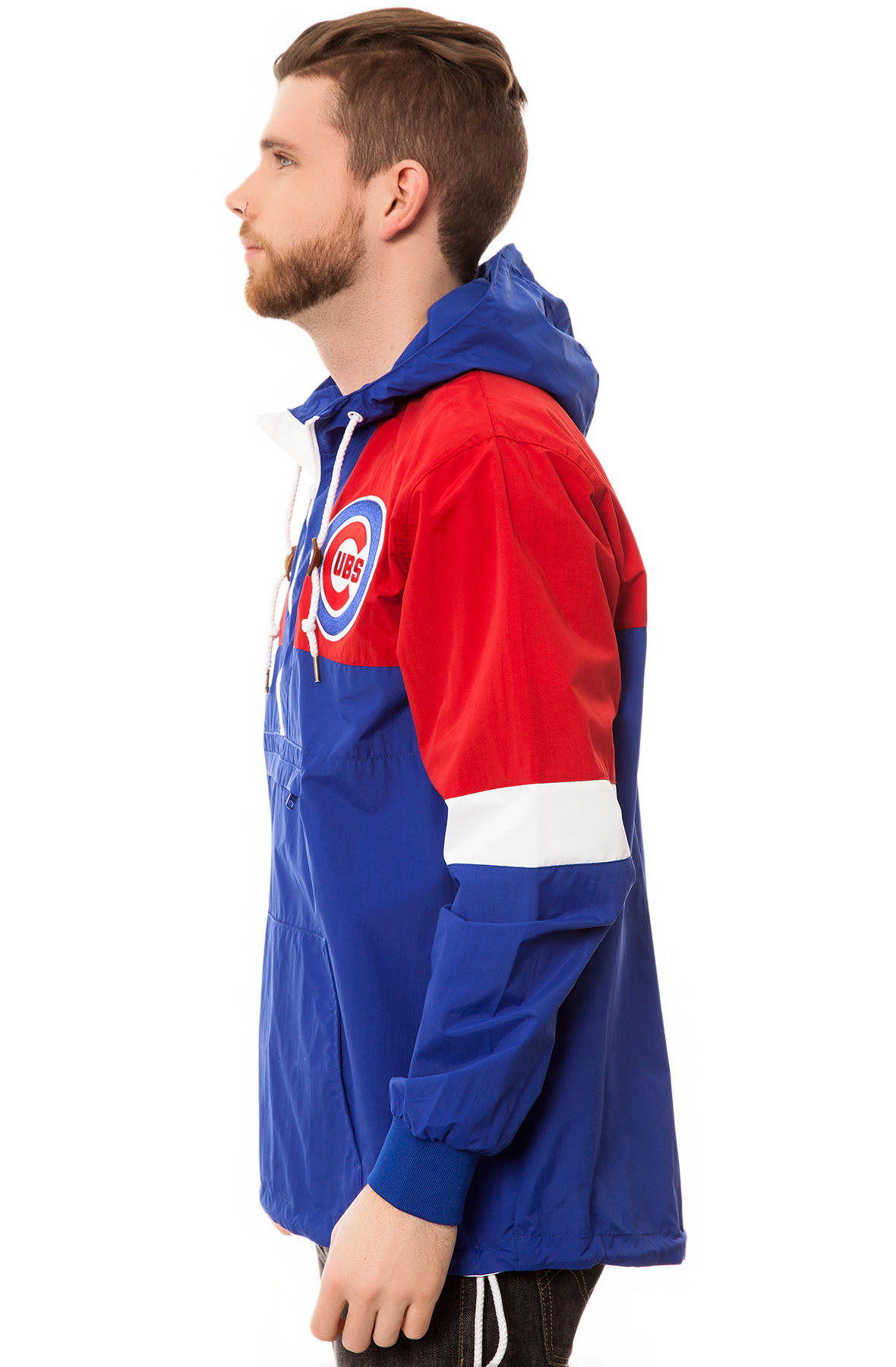 a7e706b4b4d Lyst - Mitchell   Ness The Chicago Cubs Half Zip Windbreaker in Blue ...