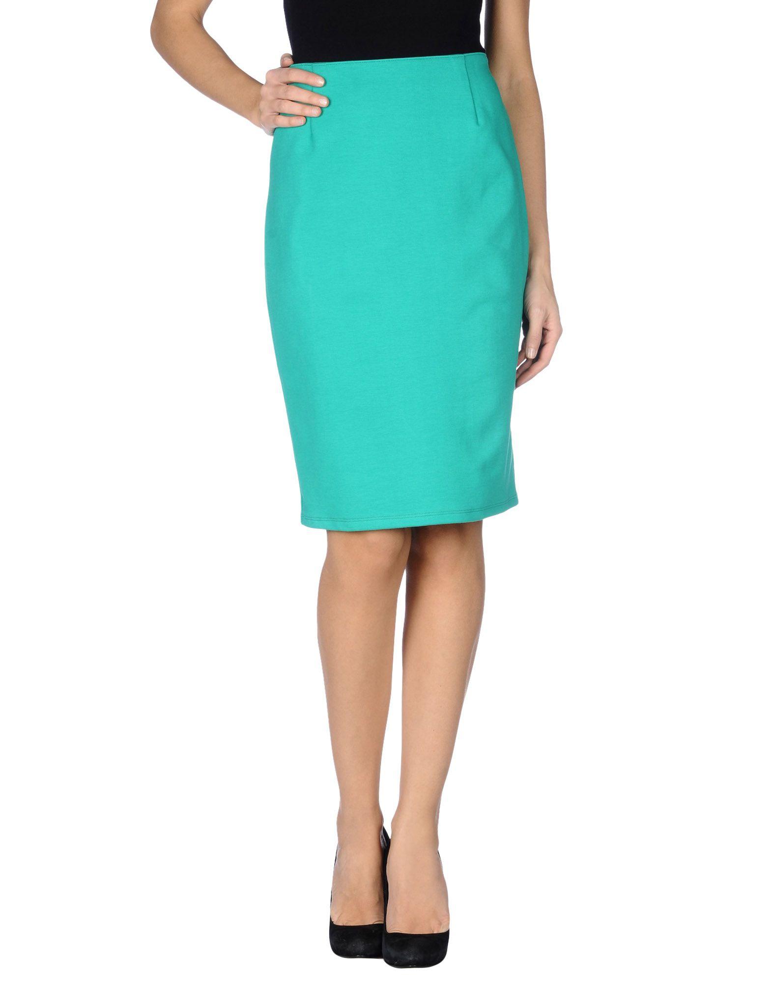 petit bateau knee length skirt in green lyst