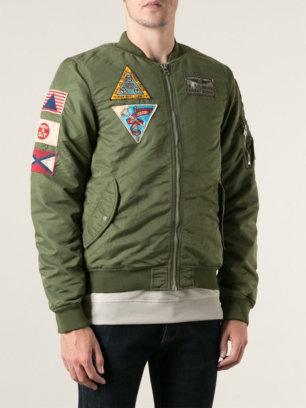 Scotch & soda Military Style Patched Jacket in Green for ...