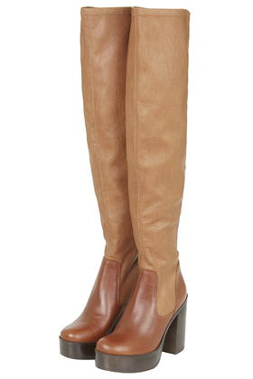 Topshop Buddy 70 S High Leg In Brown Lyst