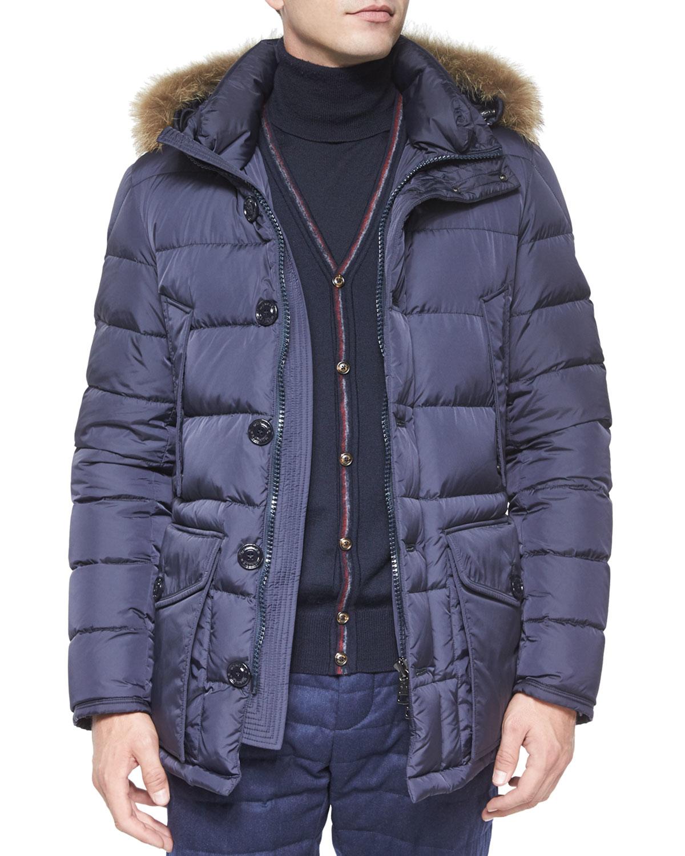 522f6db64 australia moncler coat fur hood mens de36e 94278