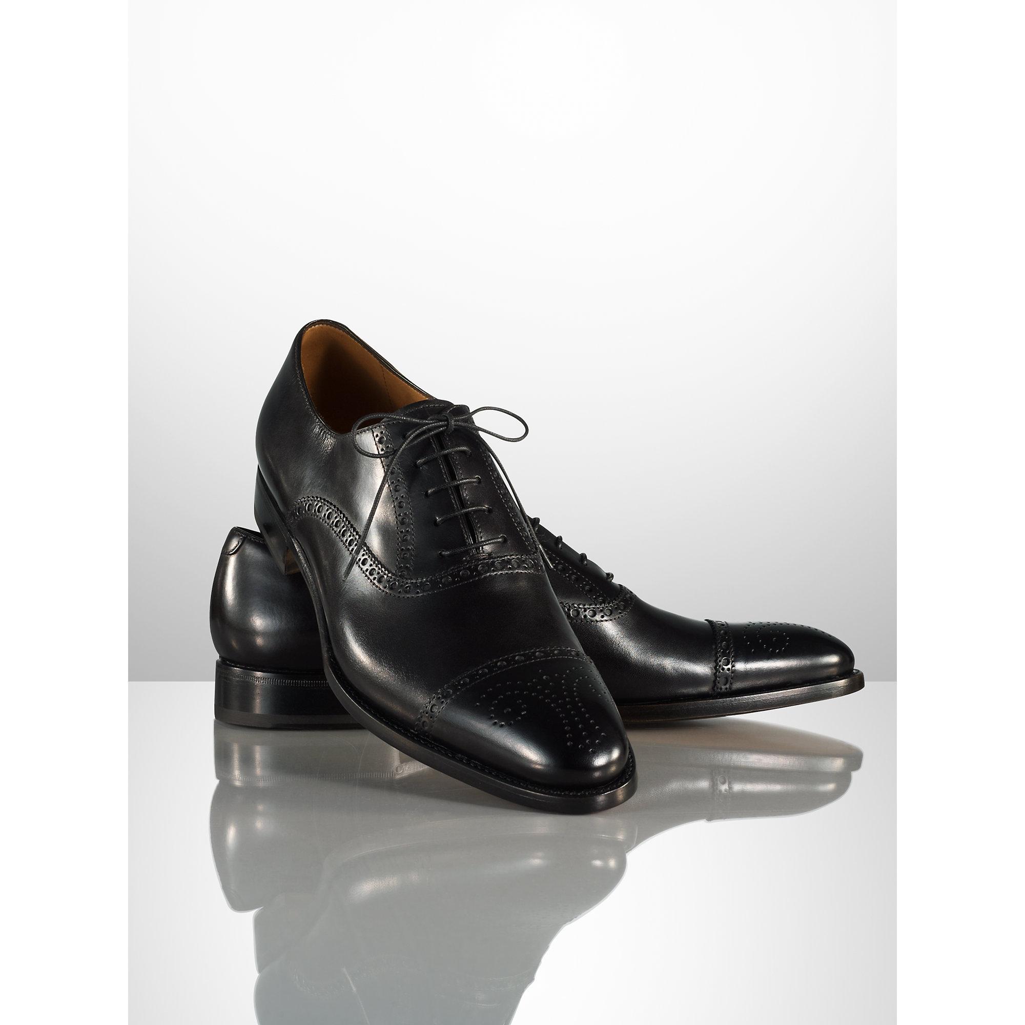 35736e38e4 Lyst - Ralph Lauren Denver Cap-Toe Shoe in Black for Men