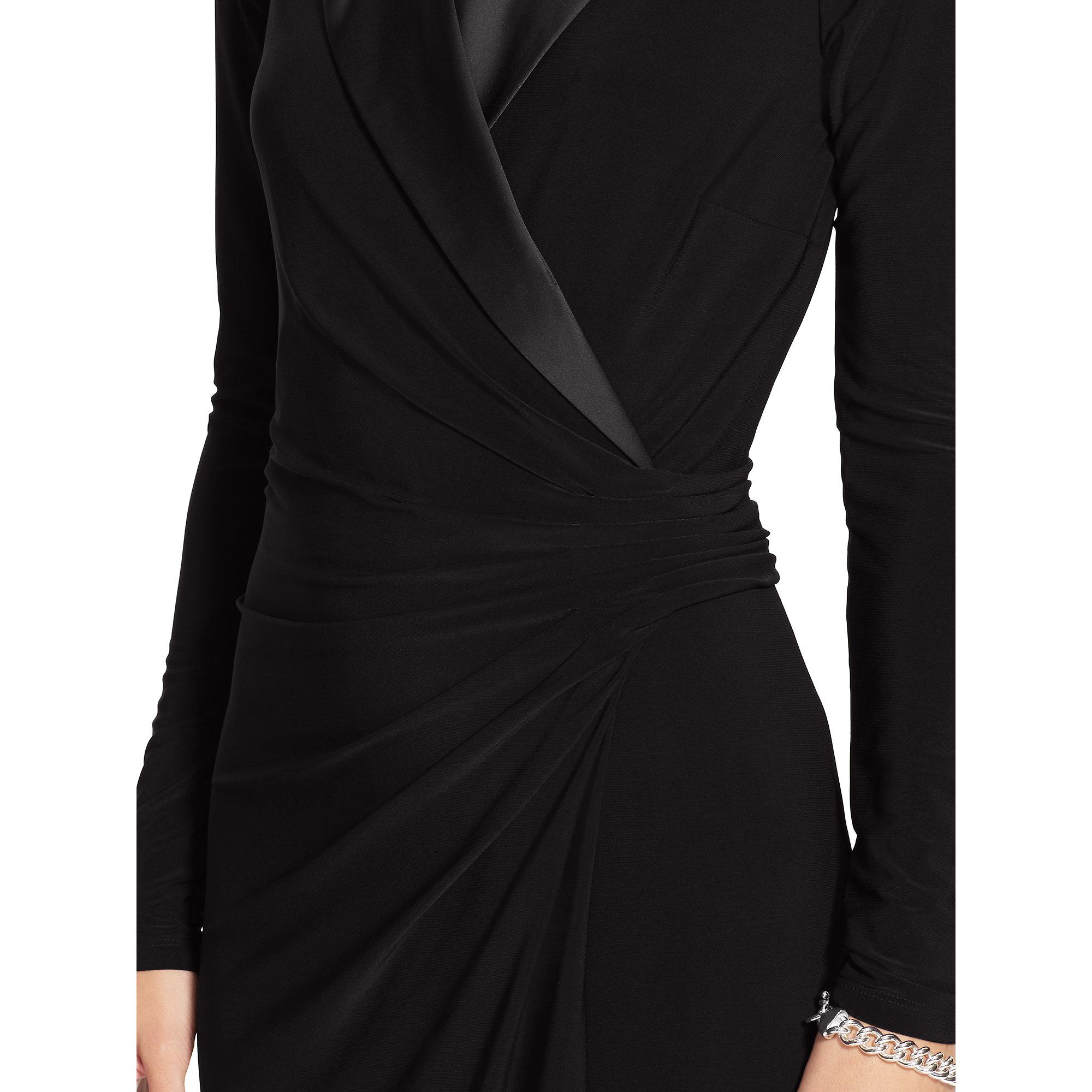 Lyst - Pink Pony Jersey Tuxedo Dress in Black