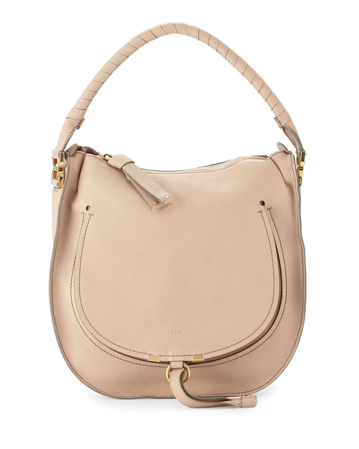 Chlo¨¦ Marcie Leather Hobo Bag in Beige (nude) | Lyst