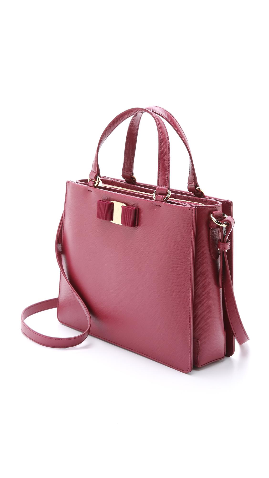 2abd0ce0f25 ... san francisco af712 7a609 Lyst - Ferragamo Tracy Bag - Vin in Pink ...