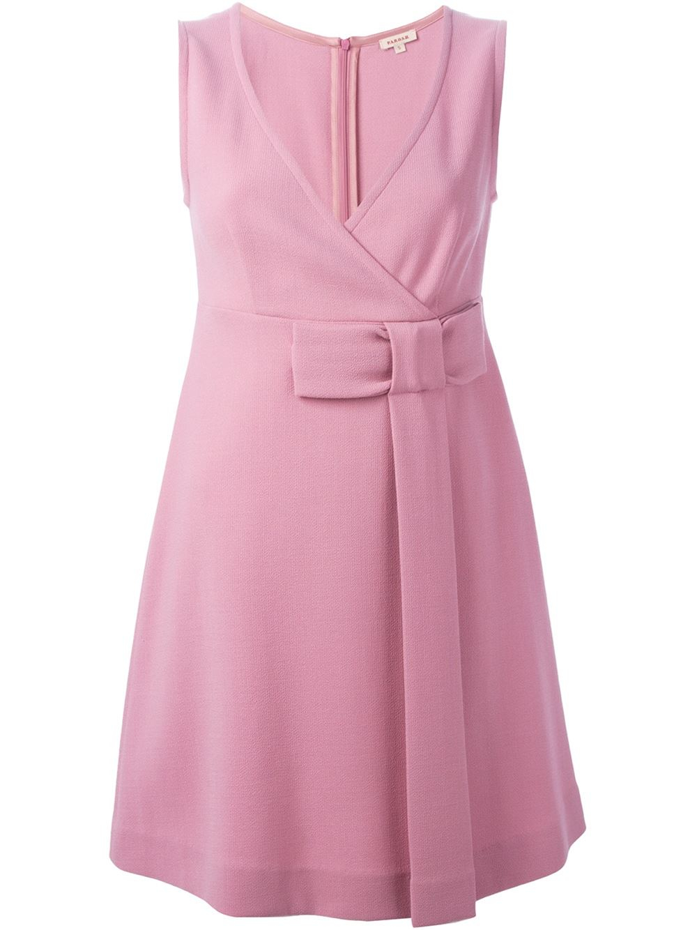 P a r o s h 39 lakix 39 dress in pink pink purple lyst Pink fashion and style pink dress