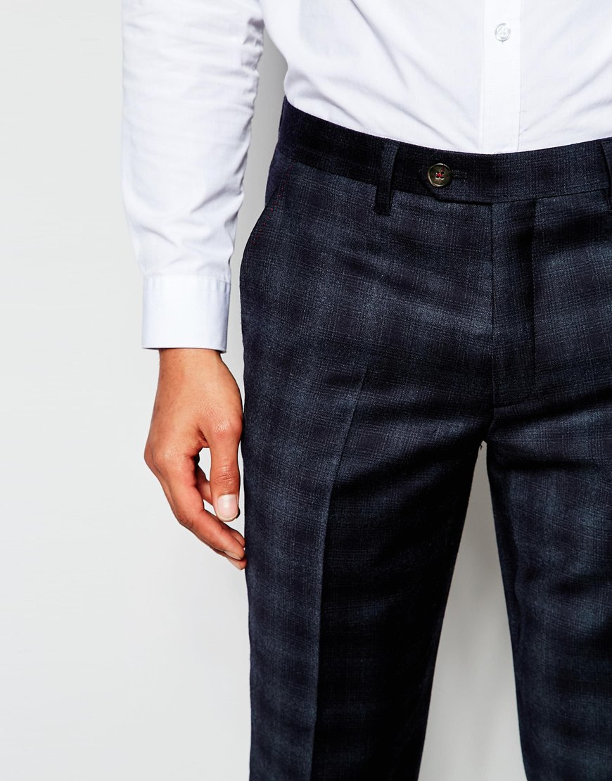 Checked Slim Fit Wool Suit Trousers Ted Baker kTHhAn