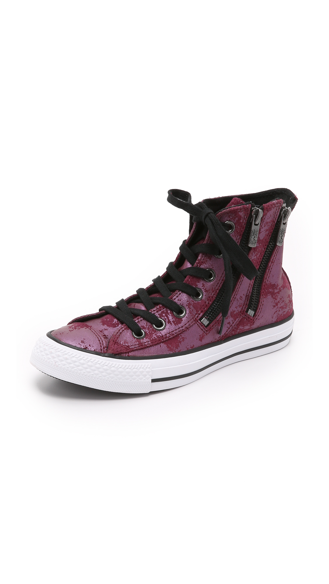 ccd0ef181ab2 Lyst - Converse Chuck Taylor All Star Dual Zip High Top Sneakers ...