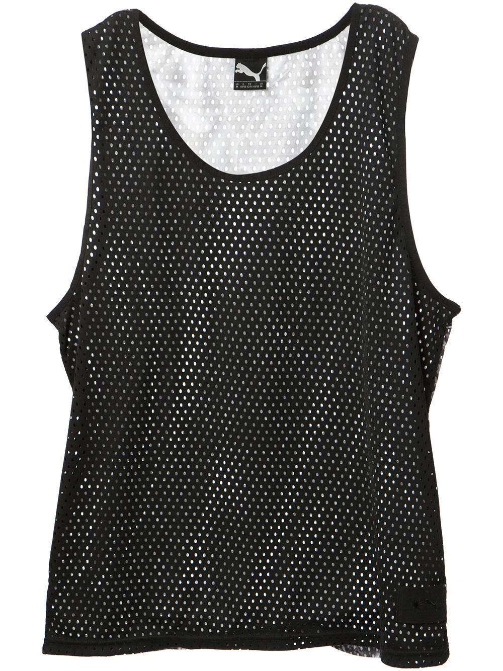 55a2d51007aec Lyst - PUMA Mesh Tank Top in Black for Men